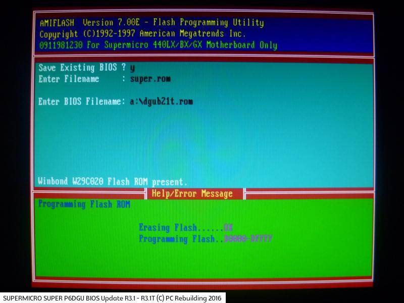 Galleria - BIOS UPDATE - PC Rebuilding