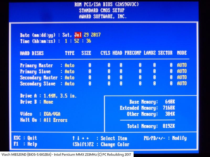 Vtech MB520ND (BIOS-S 61028A) - Intel Pentium MMX 233MHz