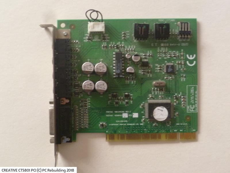Creative es1370/es1371/es1373 audio driver.