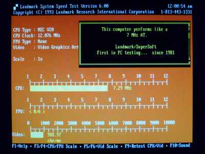 Juko ST Landmark CPU Speed Test: NEC V20 vs Intel 8088