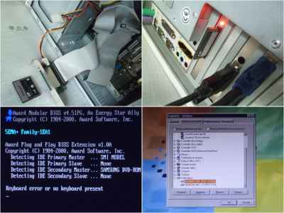 PC Windows 98: da standard Hard Disk a SSD Compact Flash